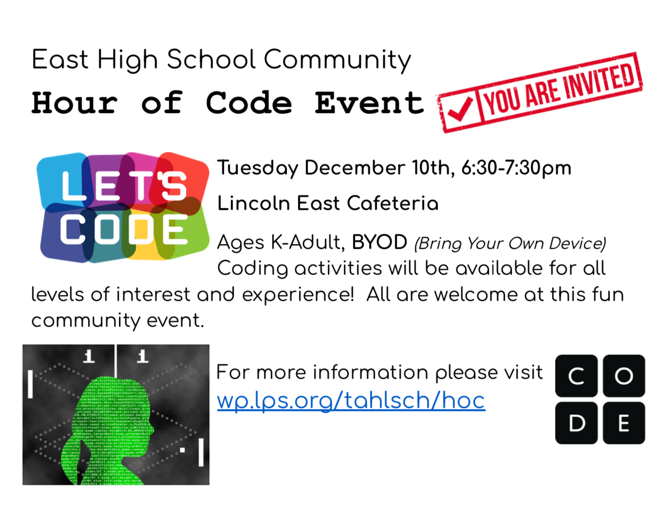 East Hour of Code Event